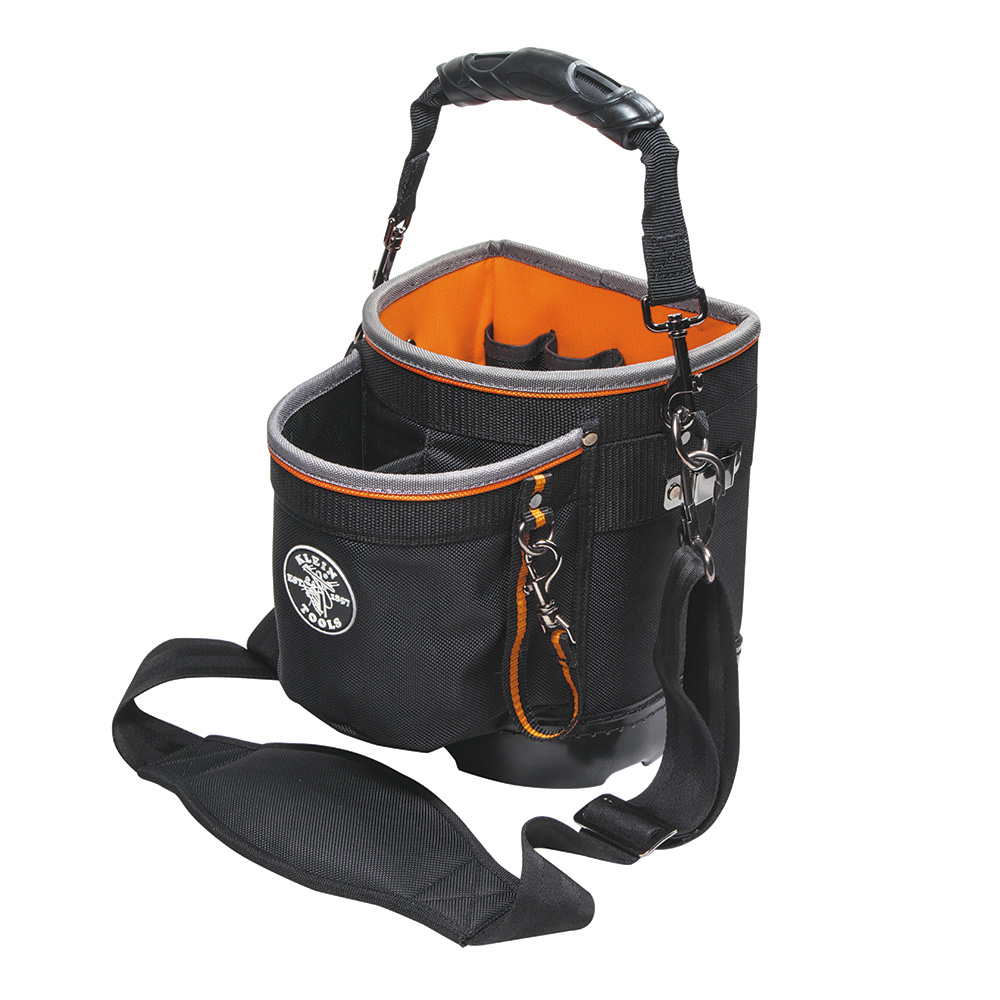 Klein Tools 55419SP-14 Black & Orange Tradesman Pro 14 Pocket Shoulder Pouch