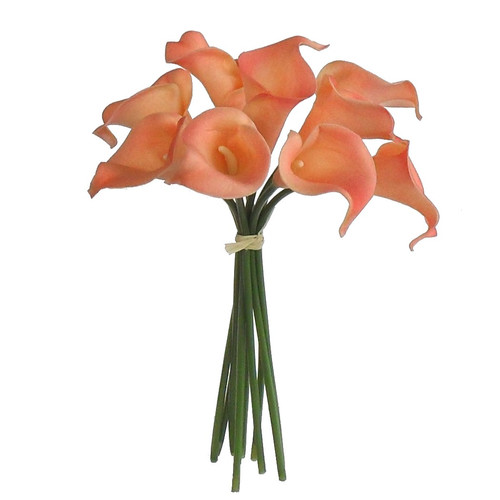 Silk Flower Depot Real Touch Soft Calla Lily Arrangements Bouquet