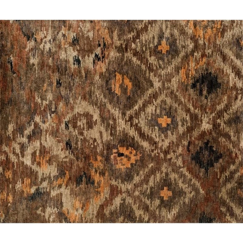 Loloi Xavier 2 X 3 Hand Knotted Jute Rug In Rustic Brown