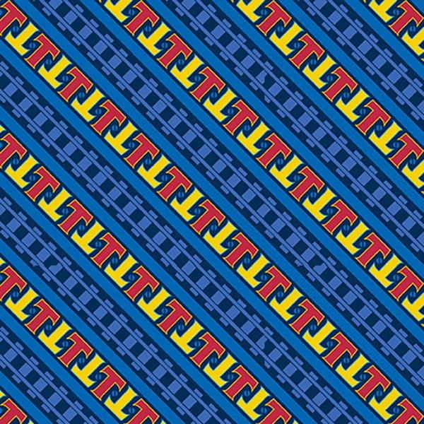 Quilting Treasures Fabrics Steam Team Express Diagonal Stripe Y