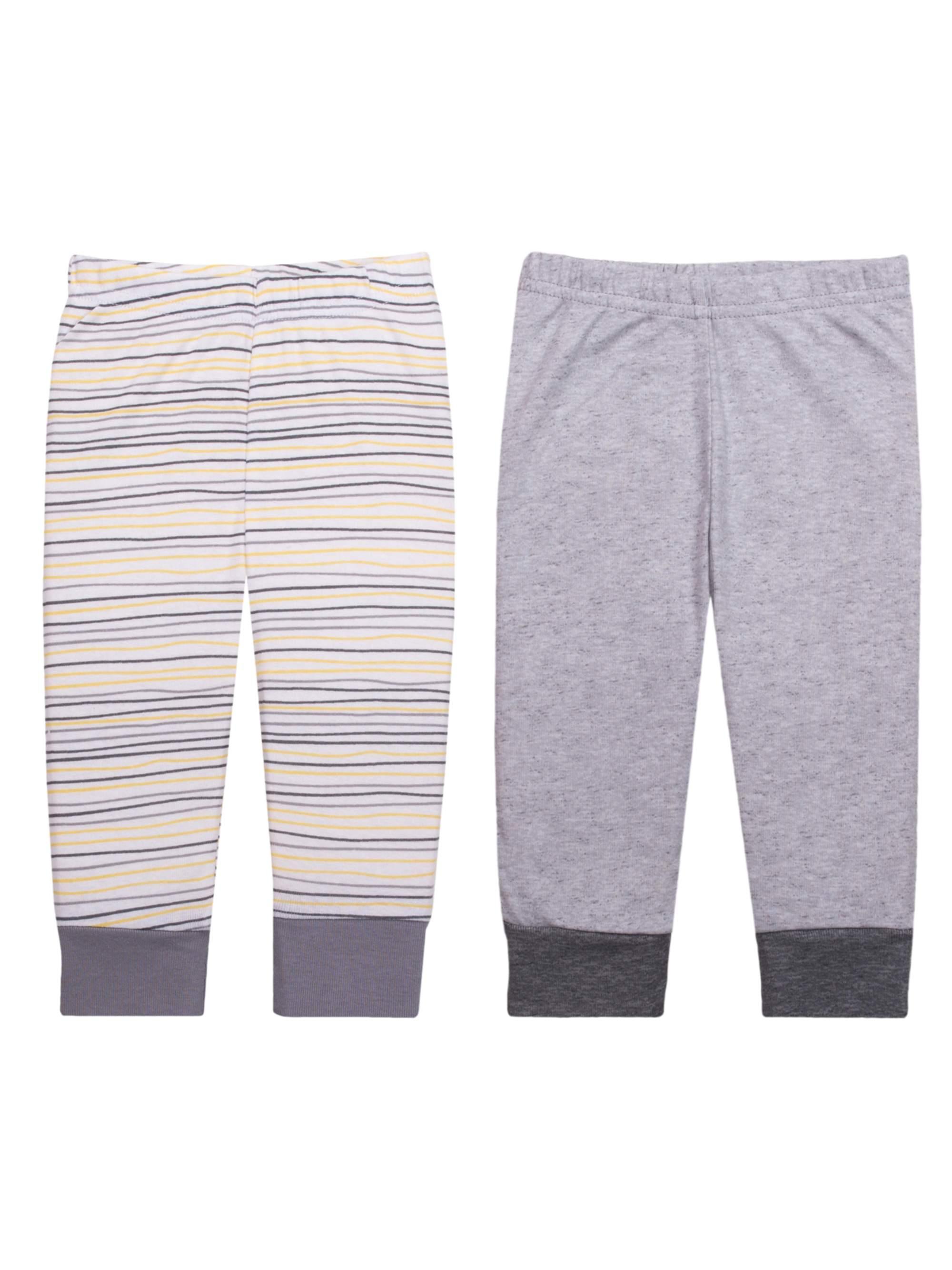 Newborn Baby Boy or Girl Unisex Knit Pants, 2-pack