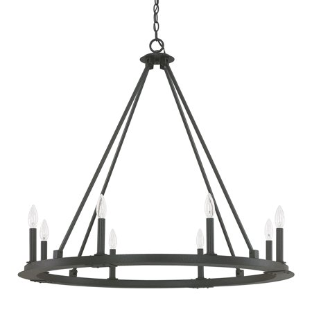 Capital Lighting Pearson Black Iron 8 Light Chandelier