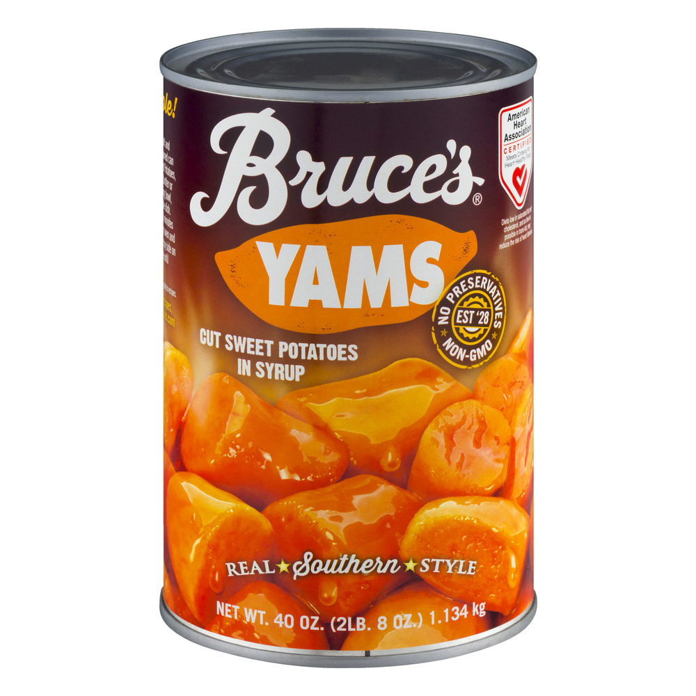 Bruce's Yams Cut Sweet Potatoes in Syrup, 40.0 OZ