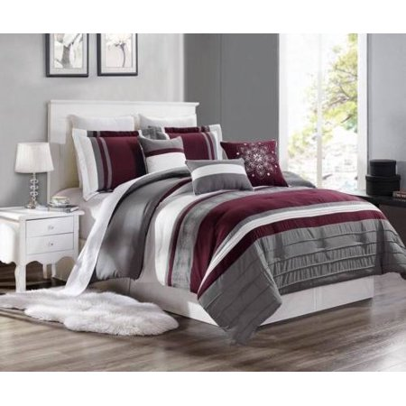 KING 3PC Brenda#6 Luxurious Printed Duvet Bed Cover Set, One (1) Oversized Embroidered Duvet Cover with Two (2) Pillow Shams