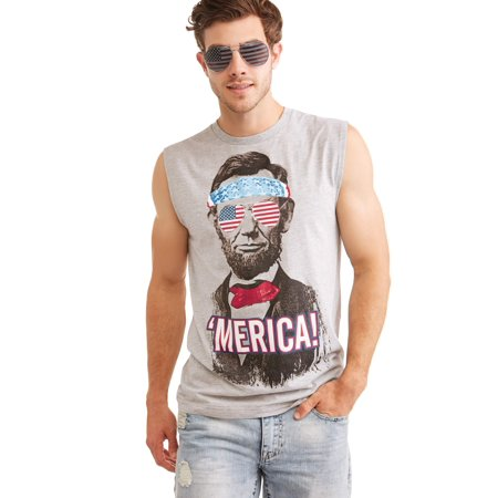 61565216 Pop Culture - President Abraham Lincoln Americana Men's Graphic T-Shirt  Combo With Sunglasses - Walmart.com