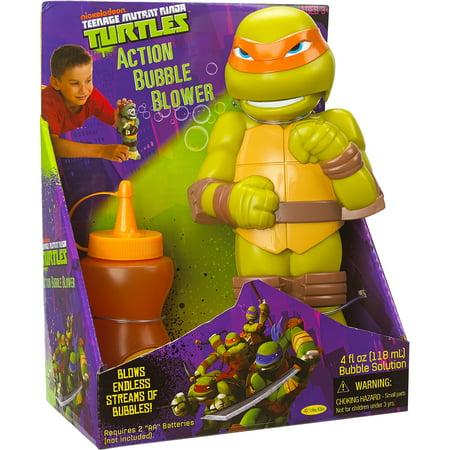 Little Kids Teenage Mutant Ninja Turtles Action Bubble Blower  Michelangelo