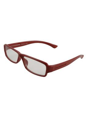 836258916f Product Image Red Plastic Rim Clear Lens Plain Glasses Spectacles  Eyeglasses for Women