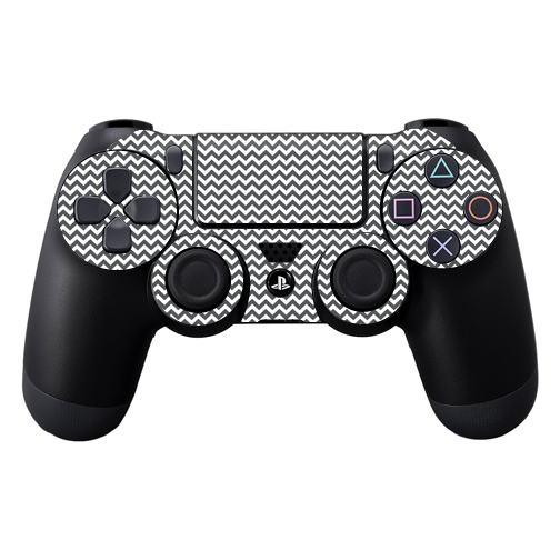 Skin Decal Wrap for Sony PlayStation DualShock 4 Controller Gray Chevron