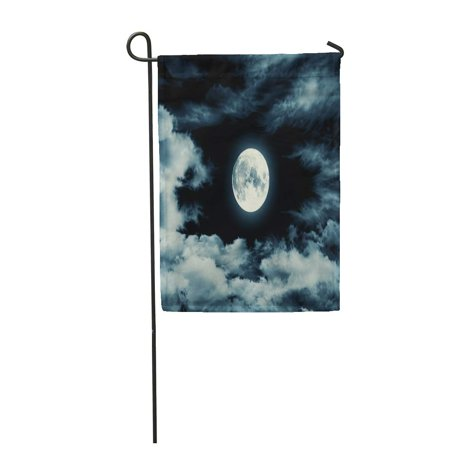 LADDKE Blue Night Nightly Sky Large Moon Full Halloween Garden Flag Decorative Flag House Banner 12x18 inch](Sky Garden Halloween)
