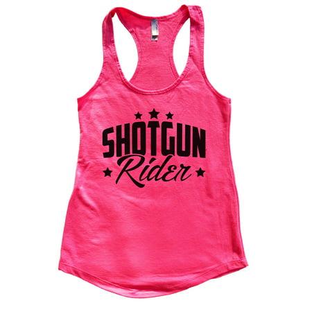"Flowy Tank Top Country Tim McGraw Concert Tank Top ""Shotgun Rider"" Funny Threadz Small, Hot Pink (Pink Shotgun)"