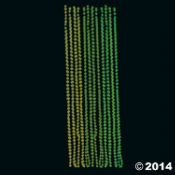 24 Glow-in-the-Dark Mardi Gras Throw Beads! Purple Green and Yellow!, plastic By McToy Ship from US](Mardi Gras Throws)