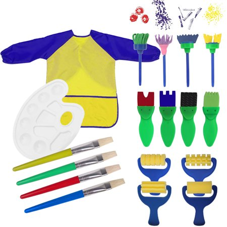 Justdolife 18PCS Kid's Paint Tool Assorted Types Art Craft