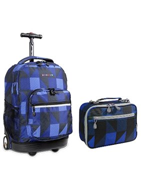 Product Image J World Block Navy Sunrise Roller Backpack Back Pack and Cody  Lunch Bag Bundle Set a22a8fa1cb463