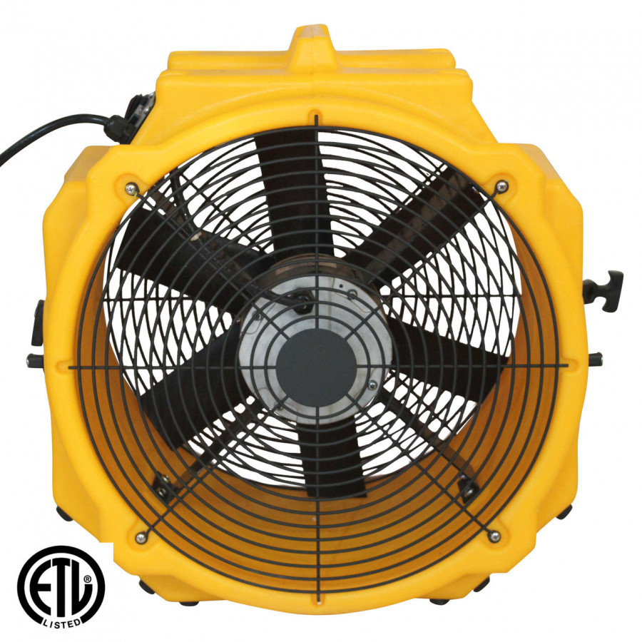 Zoom 1/4 HP Dual Speed Axial Ventilation Air Blower Fan with 25 Foot Power Cord