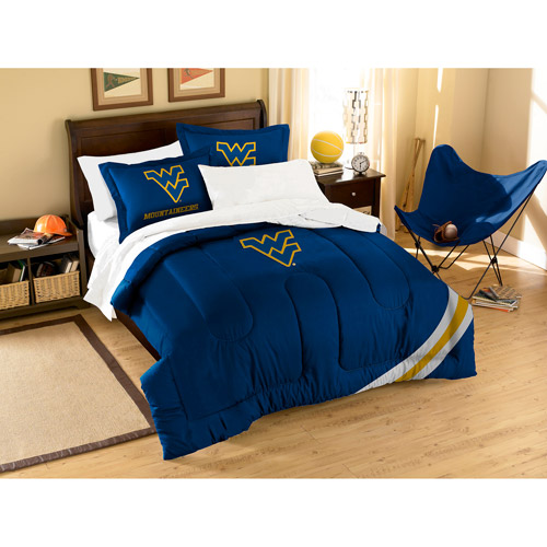 NCAA Applique 3-Piece Bedding Comforter Set, West Virginia