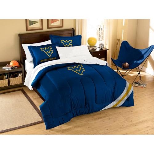 NCAA Applique 3-Piece Bedding Comforter Set, West Virginia