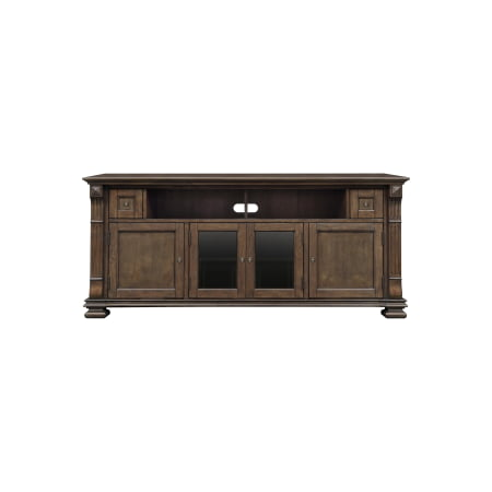 Mocha Finish Wood Home Entertainment Cabinet can accommodate most flat panel TVs up to 75-in or up to 175 lbs