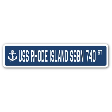 USS RHODE ISLAND SSBN 740 Street Sign us navy ship veteran sailor gift - Halloween In Rhode Island