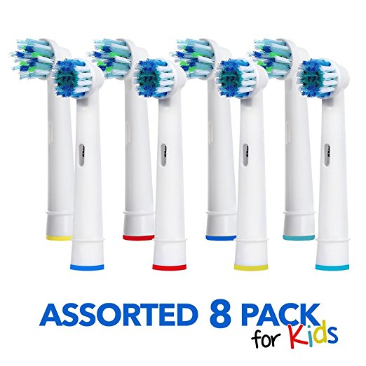 Generic Oral B Braun Replacement Brush Heads 8 Pack Assorted Toothbrush Heads Easy Cleaning For Kids And Adults - Electric Toothbrush Replacement