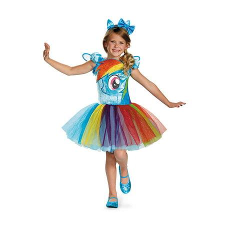 Child Rainbow Dash Tutu Prestige My Little Pony Costume by Disguise 72624 - My Little Pony Halloween Costume Ideas