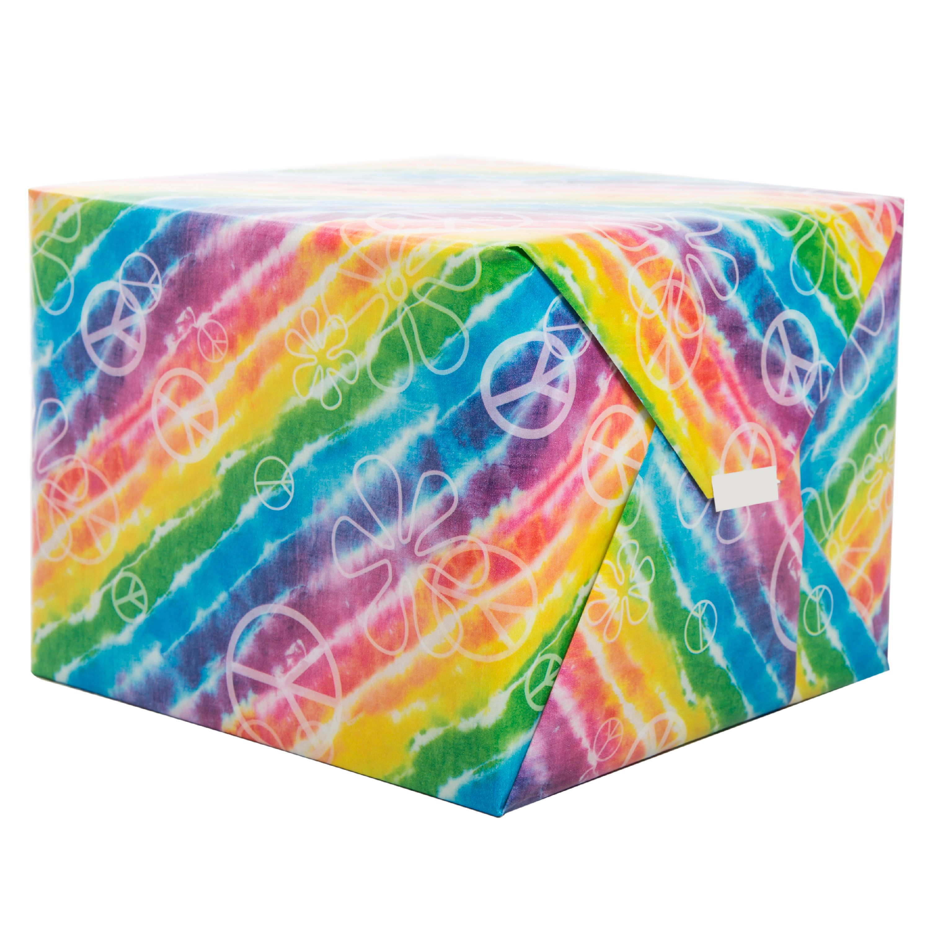 Rainbow Tie Dye Wrapping Paper Roll