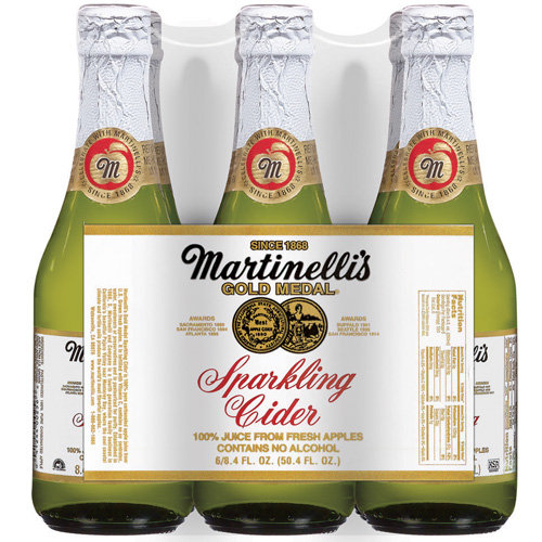 Martinelli's Gold Medal® 8.4 Oz Sparkling Cider 100% Juice 6 Ct Glass Bottles