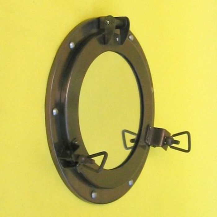 India Overseas Trading IR4862 - Porthole Iron Antique Finish Mirror, 9""