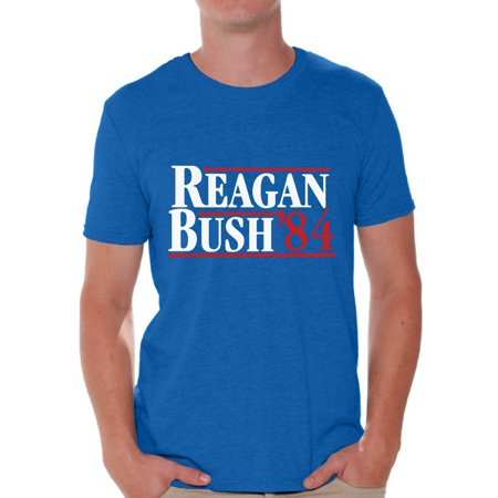 Awkward Styles Reagan Bush 84 Tshirt Retro Presidential Campaign Shirt Reagan Bush Men's Shirt Reagan Bush 84 T Shirt for Men Republican Gifts for Him Ronald Reagan Bush Shirt Reagan Bush Tshirt Anti Bush Tee Shirts