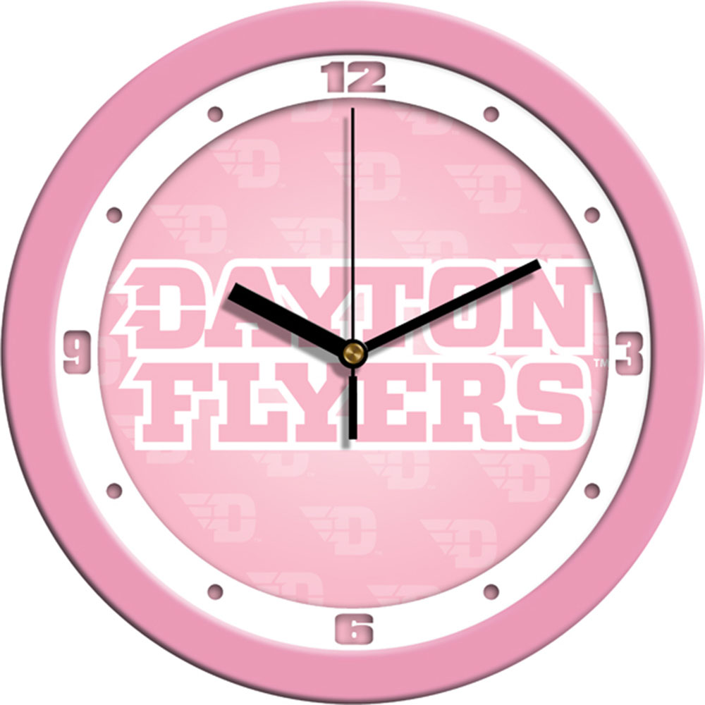 Dayton Flyers NCAA Wall Clock (Pink)
