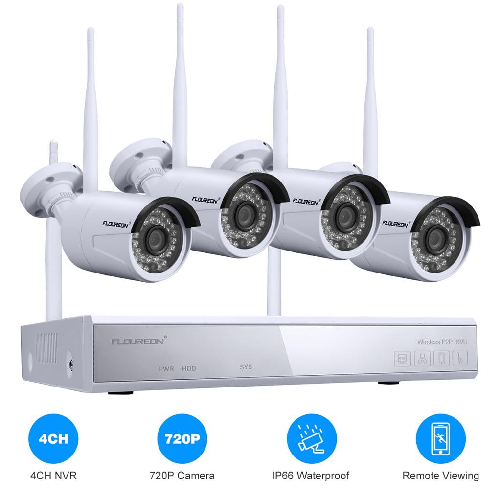 4CH Wireless CCTV 1080P WiFi WLAN IP Camera HD Home Security NVR System Webcam