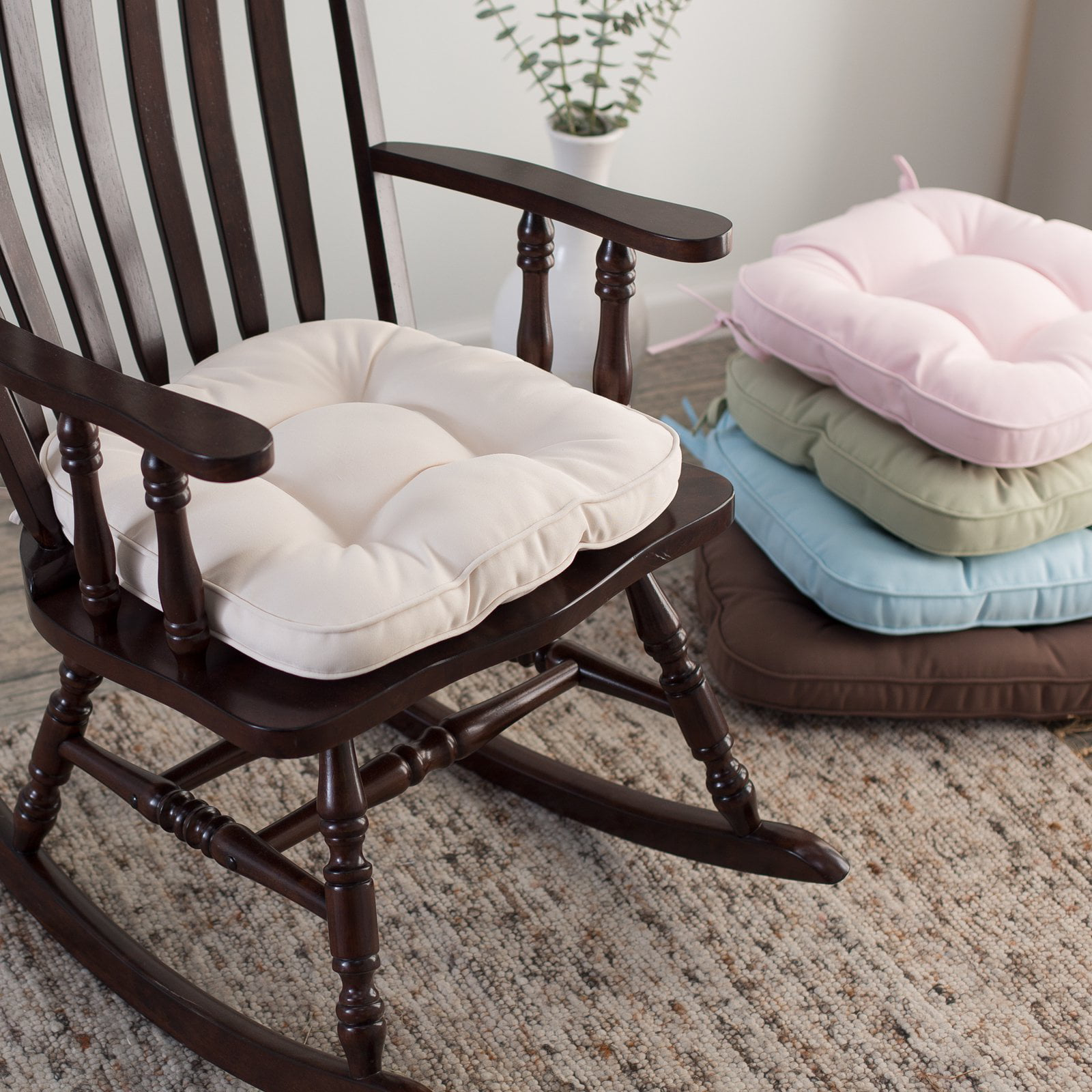 rocking chair cushions nursery Deauville 18 x 19 Tufted Nursery Rocker Cushion   Walmart.com rocking chair cushions nursery
