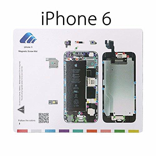 For iPhone 6 Plus MagiDeal Professional Magnetic Pad with Screws Mapping Project Mat Pad Guide Tool Cell Phone Dissemble Tool Repairing Tool Kit for iPhone 6 6s iPhone6 Plus iPhone 6s Plus