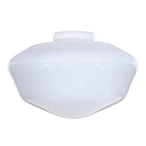 Satco Blown Opal SchoolhoUse Globe Shade SchoolhoUse Glass White Diameter 14in Fitter 6in