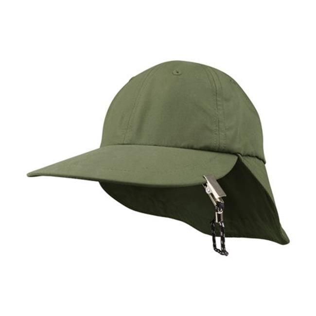 J6933 Microfiber Cap With Flap, Khaki - image 1 of 1