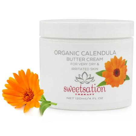 Organic Calendula Butter Cream, 4.0 oz Calendula Rosemary Foot Butter