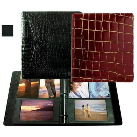 Raika VI 161 BLK 8in. x 11in. Combination Ring Binder Photo Album - Black