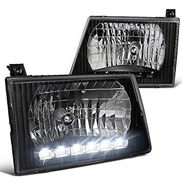 Spec-D Tuning LH-ECON92JM-RS Ford E150/E250/E350/E450/E550 Econoline Van Black Crystal