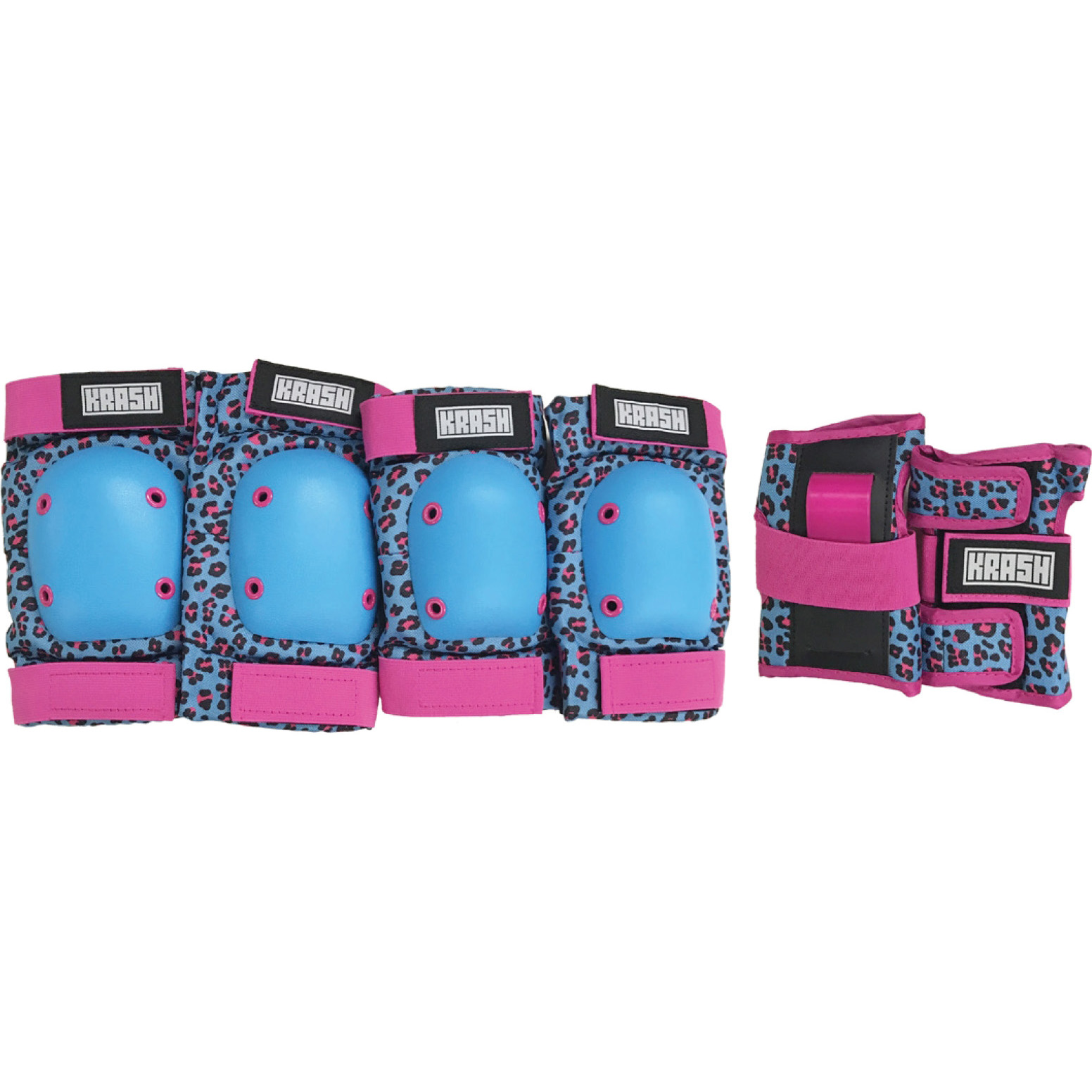 Krash Rawr Protective Pad and Glove Set, Blue