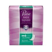Poise Women's Ultra Thin Light Pads, Regular Length, 30 Ct