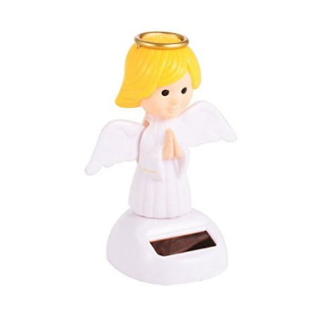 Solar Power Motion Toy Angel Pray Figurine Light Activated Car Office Home Decor Cute Novelty Gift Suncatcher