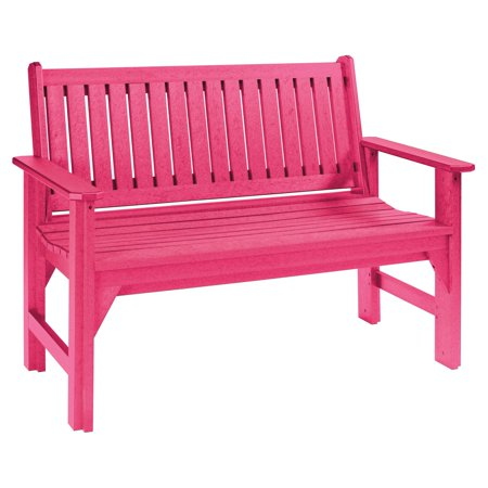 C R Plastic Generations 4 Ft Garden Bench With Back