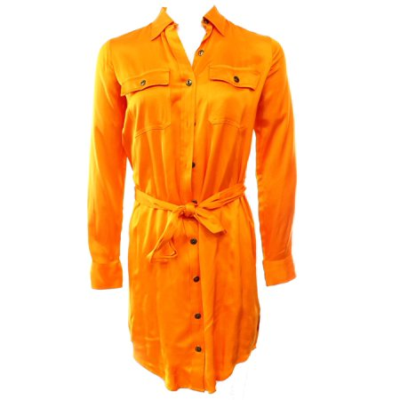 Ralph Lauren Sundress - Lauren Ralph Lauren NEW Orange Womens 6 Belted Two-Pocket Shirt Dress $150