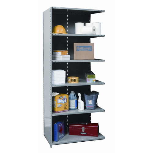 Hallowell Hi-Tech Heavy-Duty Closed Type 87'' H 5 Shelf Shelving Unit Add-on