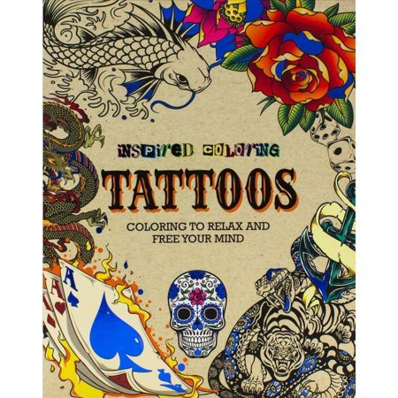 tattoos adult coloring book coloring to relax and free your mind - Tattoo Coloring Book
