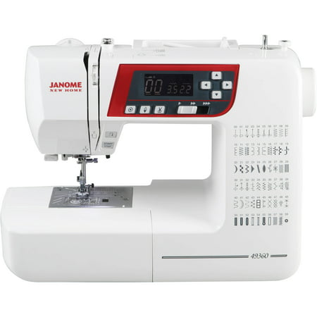 Janome 49360 High-End Quilting and Sewing Machine with Exclusive Superior Plus Feeding System, 60 Stitches, 6 1-Step Buttonholes, Memorized Needle Up/Down and LCD