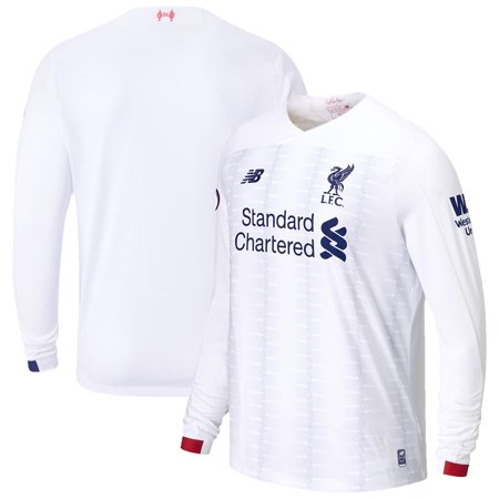 Liverpool New Balance 2019/20 Away Replica Long Sleeve Jersey - White Ajax Away Jersey