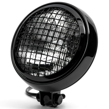 """Krator 6"""" Black Motorcycle Headlight w/ Mesh Grill High Low Beam Headlamp Bottom Mount for Victory Cross Country - image 7 of 7"""