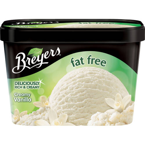 Breyers Fat Free Creamy Vanilla Ice Cream, 48 oz