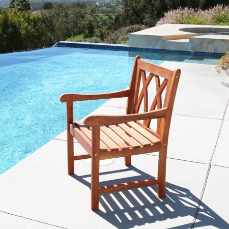 Malibu Eco-friendly Outdoor Hardwood Garden Arm -