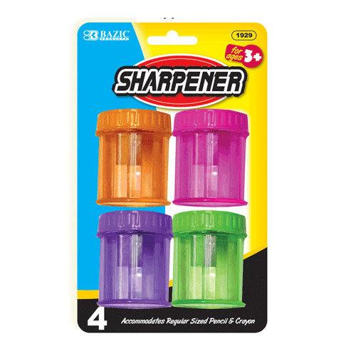 DDI 1181062 BAZIC Single Hole Sharpener w/ Round Receptacle (4/pack) Case of 24